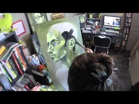 Cousin Nicolas deutéranopie - Time lapse - painting