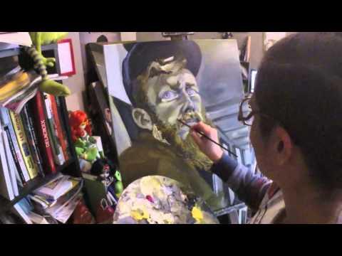 Roux barbu deutéranopie - Time lapse - Painting