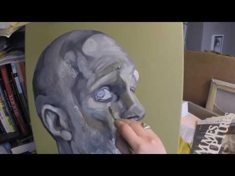l'homme inquiet de pierre - Timelapse painting