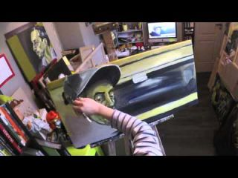 Inconnu RER 3, deutéranopie  - Time lapse - painting