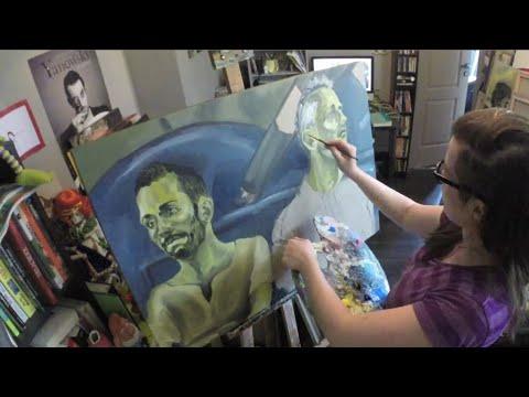 Anti-couple deutéranopie - Time lapse - painting