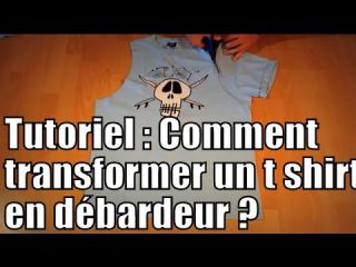 Tutoriel : comment transformer un t shirt en débardeur / DIY : how to turn a t shirt into a tank top